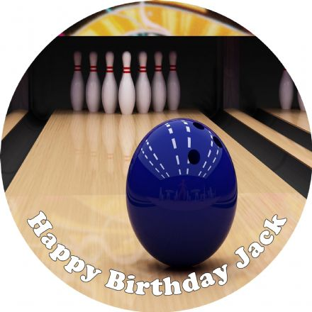 Ten Pin Bowling Edible Cake Topper
